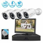 5MP POE CCTV Security Camera System Outdoor