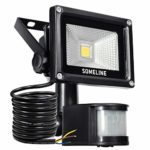 Security Light with Motion Sensor 10W Outdoor Led Floodlight with Pir Outside Floodlights with Sensor SOMELINE