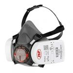 JSP Force 8 Half Mask Respirator fitted with JSP Press to Check P3 Dust Filters - (BHT0A3-0L5-N00)