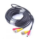 Cocar 65FT 20M Pre-made 2-in-1 BNC Video + Power DC Extension Cable for CCTV Security Camera Home Surveillance Closed-circuit TV System