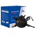 FFP3 face Respirator Masks with Valve EN149:2001 A1:2009 Compliant Black with 4 Point Headband Pack of 8